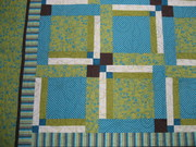 Close up of Bleeker St Fair Pattern in Riviera