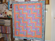 First Quilt... Rail Fence