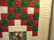 Christmas quilt detail