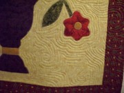 Orphan block wall hanging close up