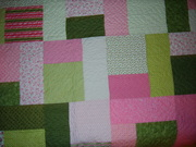 Close-up of Pink Ribbon Quilt