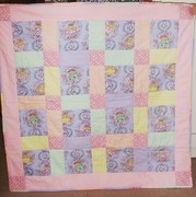 Baby quilt for a child in Gaza