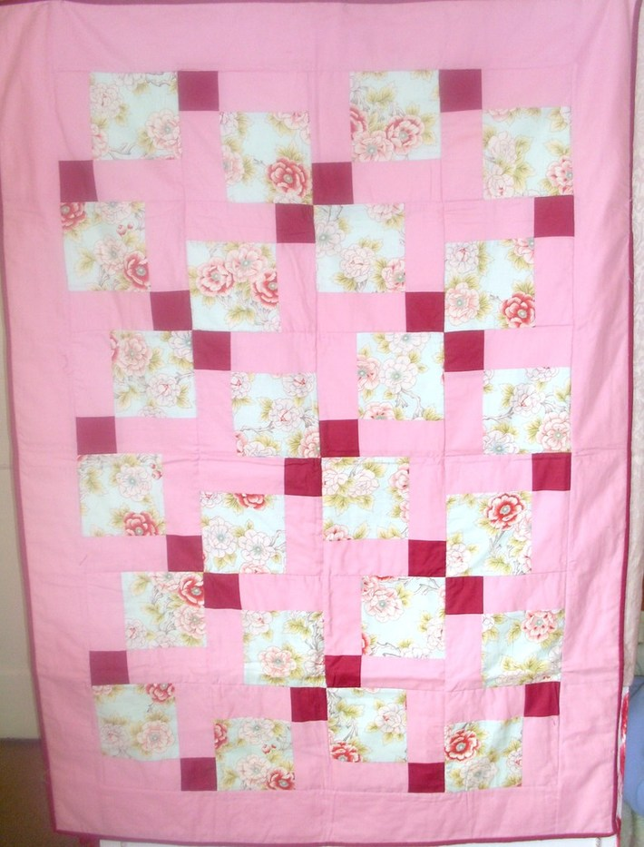 Girls quilt for Gaza