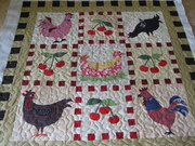 Jeanetts chicken quilt
