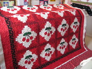 Love this cherry quilt