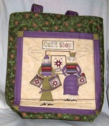 tote quilt ladies green