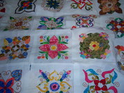 3 applique squares