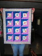 Shadow box kitty quilt