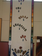 Quilt 15 Banner from United Church done by Joy Bott, Ellie Cooper and some of the congregation