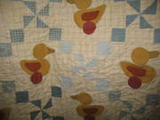 up close of duck quilt