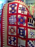 Americana, Log Cabin Heart, Doll Quilt