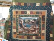 Northwoods flannel quilt
