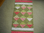 Pink and Green Table Runner