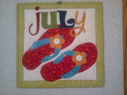 July mini quilt -  Count On It