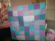 Rag Quilt Made for New Baby Girl