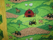 Close Up of the John Deere Quilt for Baby