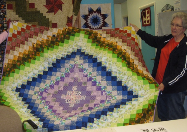Deanna's mother paid $10 for this quilt top 30 years ago.