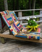 Linda's quilt on chaise