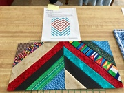 start of heart strings quilt