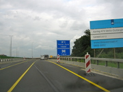 Sign of the New Motorway A74