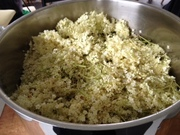 Elderflowers steeping, to be made into cordial