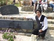 En la tumba de Pablo Neruda