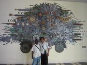 Con el poeta cubano alfredo Nicolás