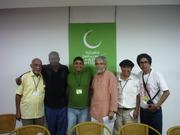 Con amigos en la UNEAC