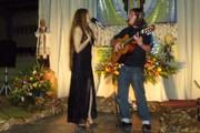 Alondra y Cristian en concierto anoche en el seminario Mayor en la capital