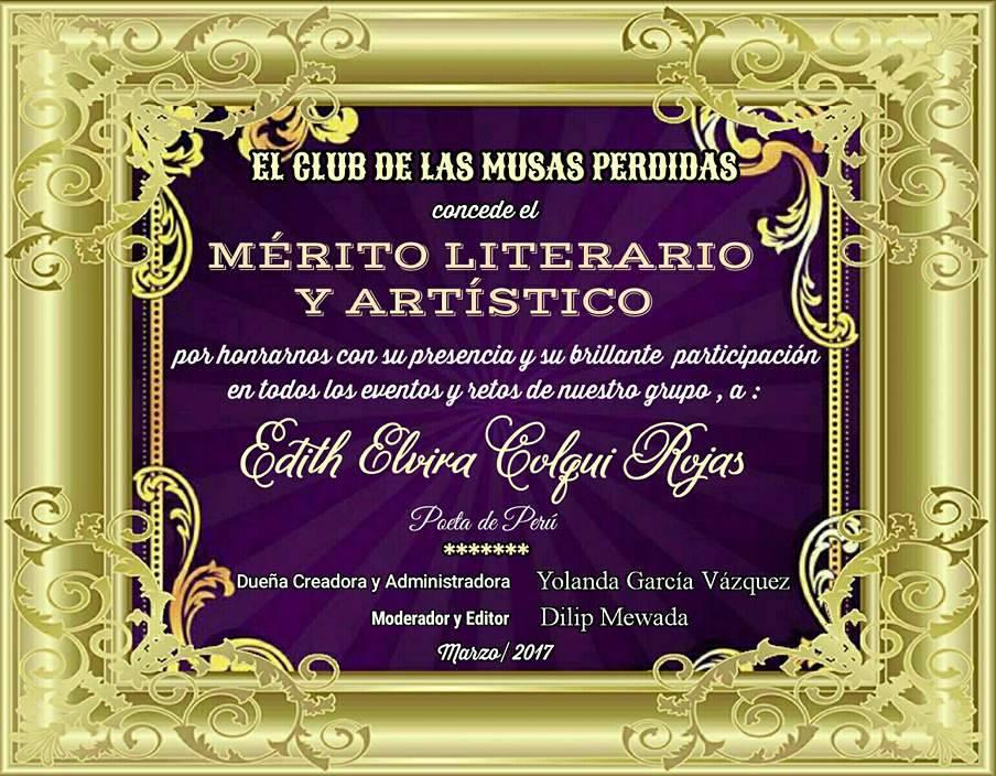 merito literario club musas perdidas