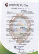 Diploma de Municipalidad Provincial de Huanta
