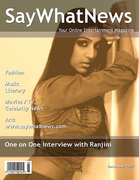 Ranjini on the Cover of SayWhatNews