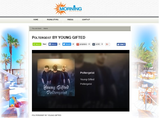 HIP HOP MORNING ☆RISING STAR☆ FEATURING  YOUNG GIFTED POLTERGEIST