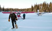 STOL CH 701 on skis in Alaska