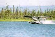 Float flying in Alaska in Zenair STOL CH 701