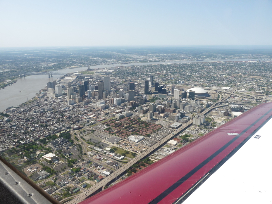 Downtown New Orleans, Louisiana - 8,490 mile trip to Sun-N-Sun 2009 in my Zodiac XL