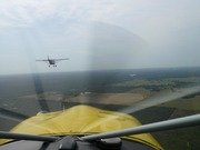 Three STOL airplanes flying to Sun'n Fun