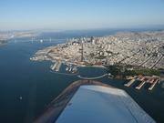 Downtown San Francisco and the Bay bridge