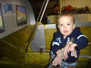 Noah preparing to fly