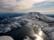 Wonder Lake and Mt St Helens