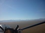 mackenzie basin, southern alps on horizon