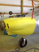 Cowling fitted and painted