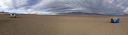 Camping on the desert