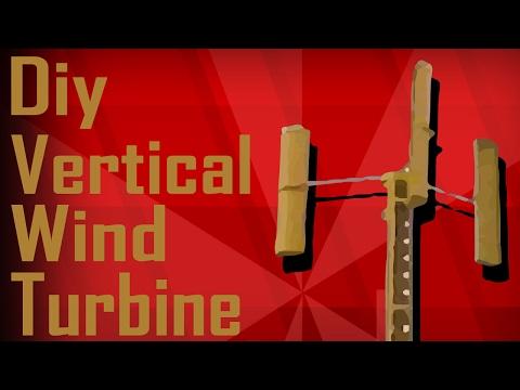 Diy Vertical wind turbine   harvesting the wind   MakerMan