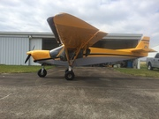 side view with new nose gear fork & 8.00X6 tire
