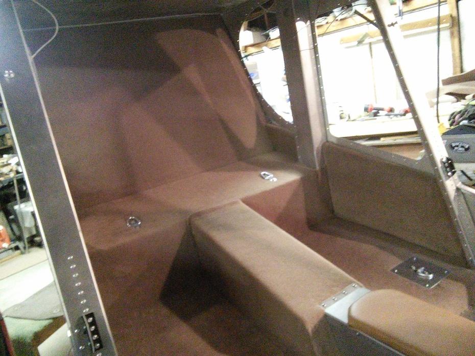 Rear cabin carpeting