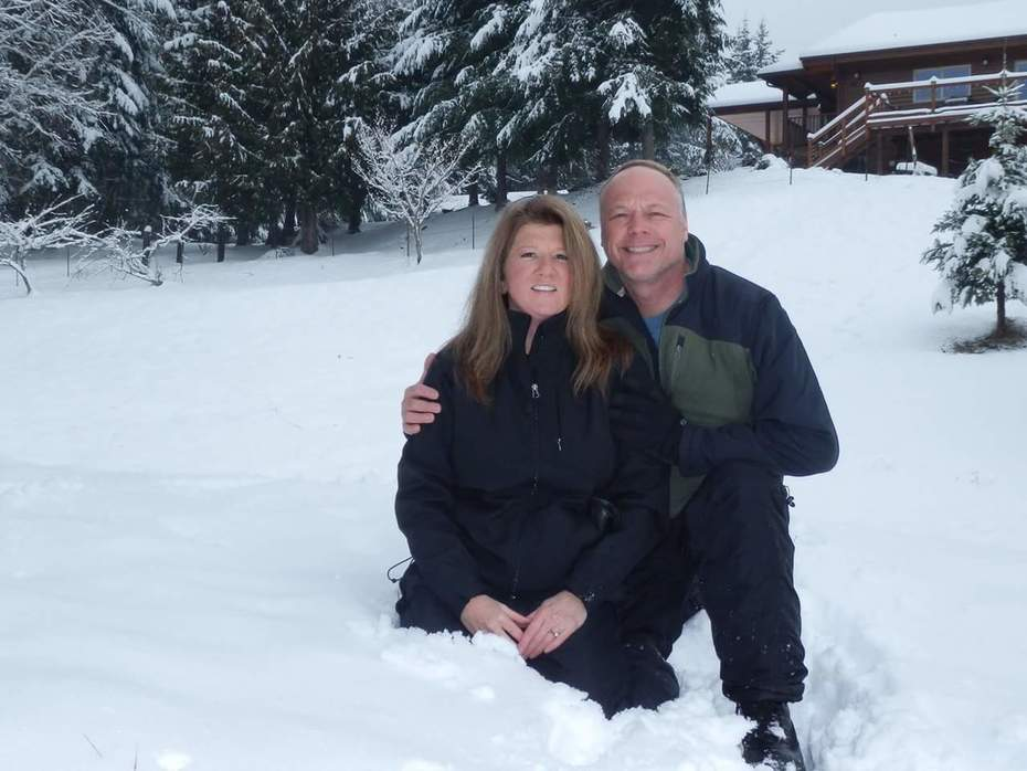 me and Sandi in Snow