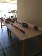 4' X 12' table for my workshop. More benchwork coming...