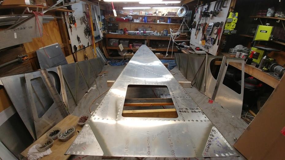 Rear Fuselage Bottom Skin - All Riveted