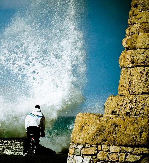 biking vs surfing..